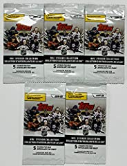2019-20 Topps Hockey NHL Sticker Collection Player Stickers 5 Pack Bundle
