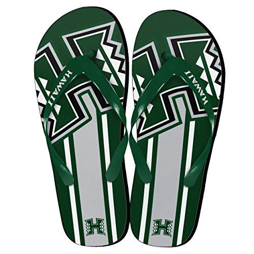 NCAA Hawaii Rainbow Warriors Big Logo Flip Flop, Medium, Green by Forever Collectibles