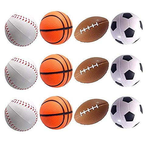 Foam Missile - Mydio 24 Pack Mini Stress Balls,Sports Balls for Kids,Party Favor Toy