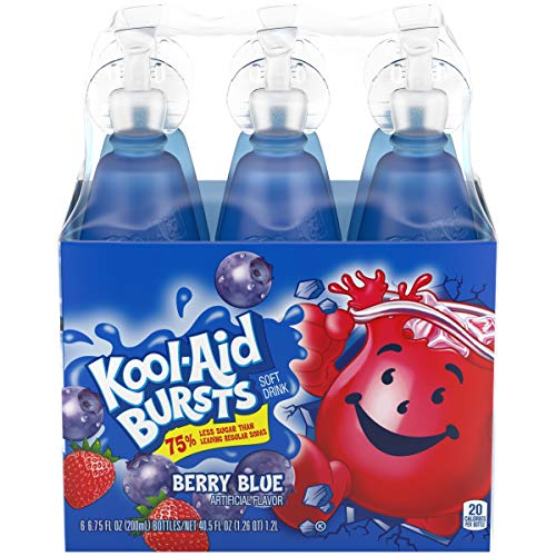 (Kool-Aid Bursts Berry Blue Ready-to-Drink Juice, 6 Count)