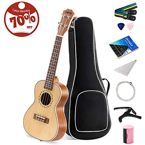【9 in 1 Kit】Concert Ukulele 23 i...