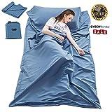 Cotton Sleeping Bag Liner Travel and Camping Sheet Lightweight Compact Sleep Bag Sack Picnic (82.7 X 63 Inch