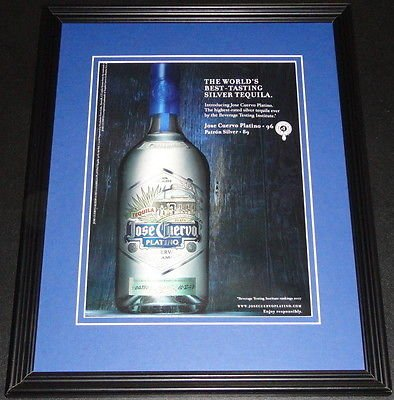 2008-jose-cuervo-platino-tequila-11x14-framed-original-advertisement
