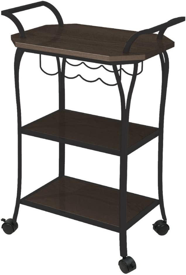 Better Homes and Gardens Kitchen Cart with Wine Rack