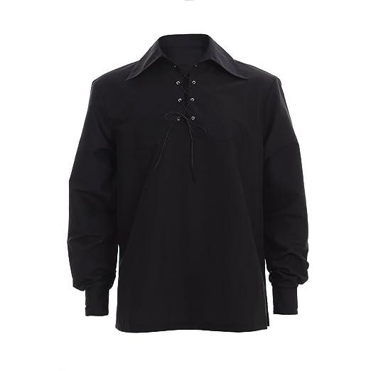 Amazon.com: COUCOU Age Medieval Shirt Men Jacobian Style ...