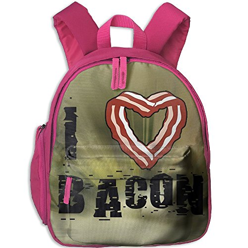 Baby Boys Girls Toddler I Heart Bacon Preschool Schoolbag Shoulder Bags Pink (Middle School Science Halloween Activities)