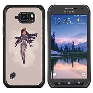 Jordan Colourful Shop - Abstract Woman For Samsung Galaxy S6 active/G870A/G890A (Not Fit S6) Personalizado negro cubierta de la caja de pl????stico