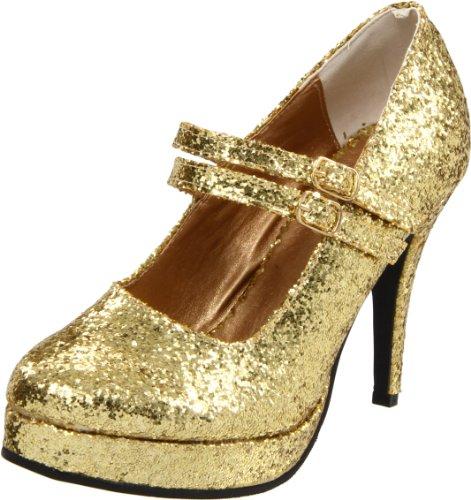 Ellie Shoes Women's 421-Jane-G Maryjane Pump,Gold Glitter,8 M US ()