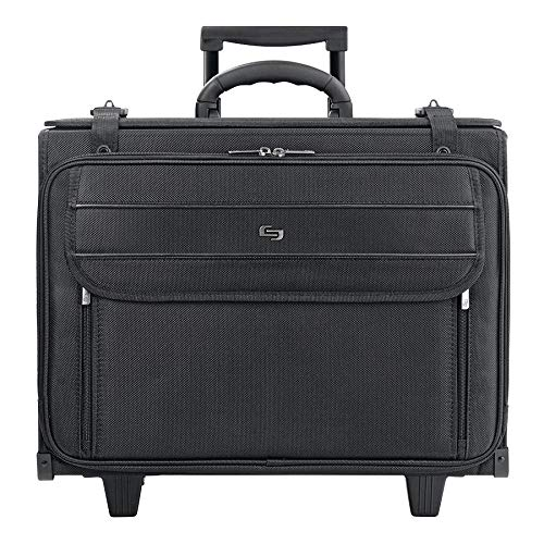 Solo Lincoln Rolling Catalog Case, with Dual Combination Locks, Black