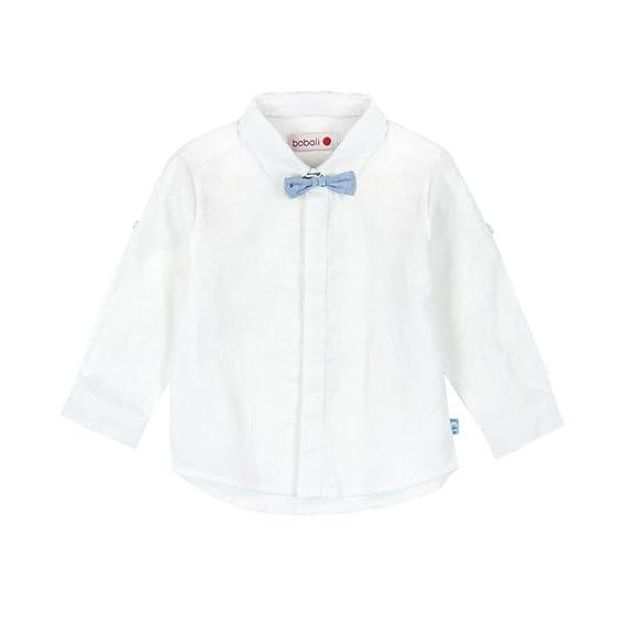 Camisa Lino Manga Larga de bebé niño - Talla - 18M: Amazon.es ...