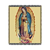 Our Lady of Guadalupe Virgin Mary Tilma Prayer Throw Blanket (50'' x 60'')