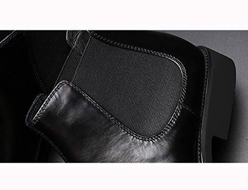 HWF Scarpe Uomo in Pelle Scarpe da uomo in pelle Scarpe alte Stivali stile inglese Martin Stivali punta a punta neri (Colore : Nero, dimensioni : EU43/UK8) Nero