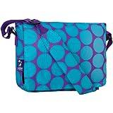 Wildkin Big Dots Kickstart Messenger Bag, Aqua