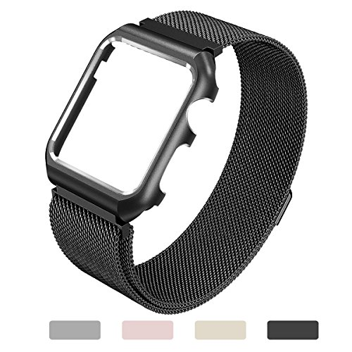 Black Mesh Sport Armband (Apple Watch Bands for Women 38mm, Black)