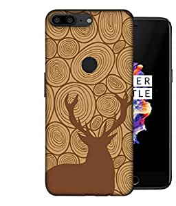 ColorKing OnePlus 5T Case Shell Cover - Deer Wood 003 Multi Color