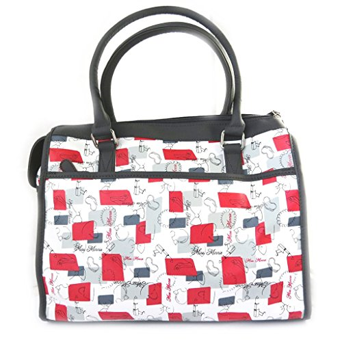 french touch' bolsa 'Minnie'gris negro rojo (38x28x18 cm).