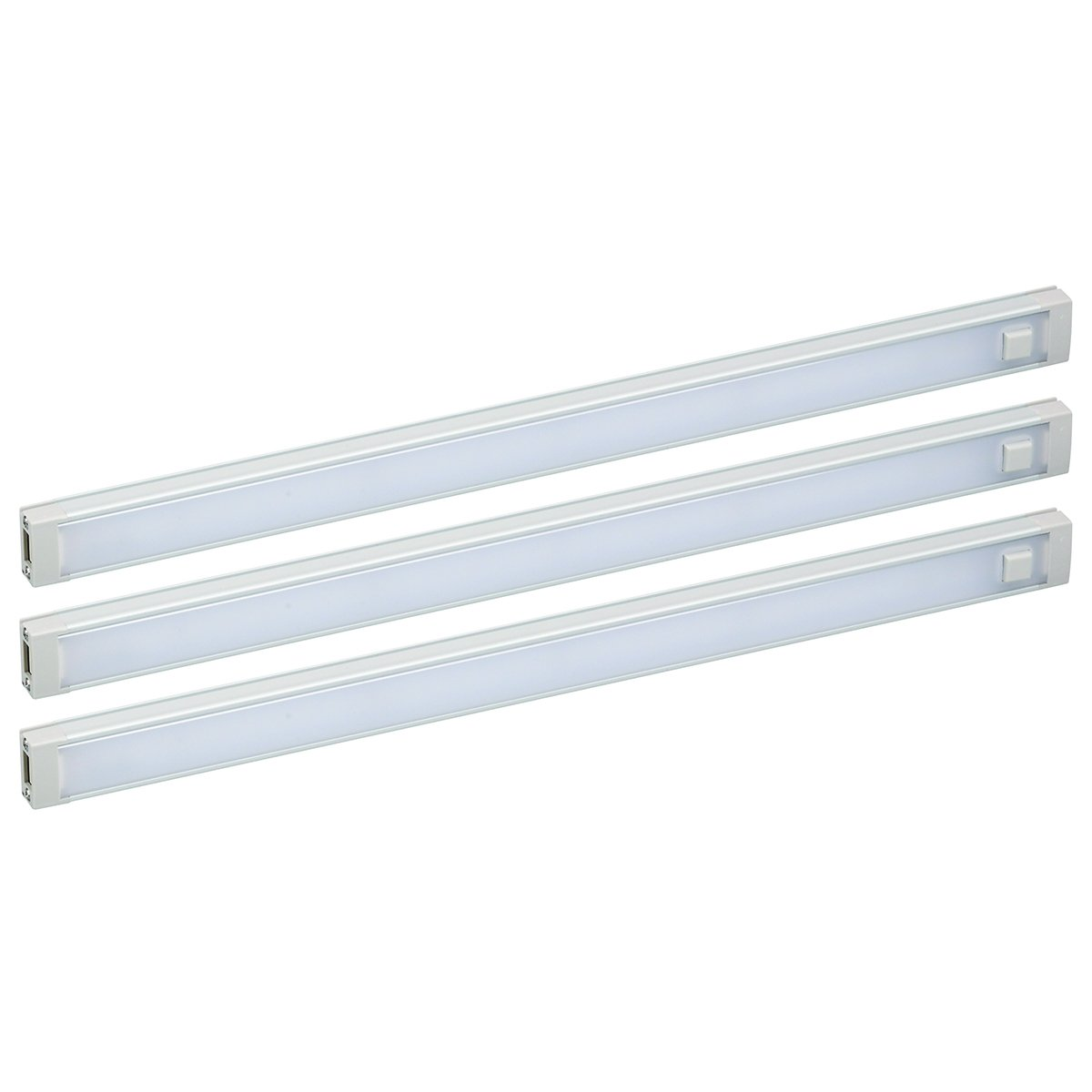 BLACK+DECKER LED Under Cabinet Lighting Kit, 3-Bars, 12 Inches Each, DIY Tool-Free Installation with Magnetic Option, Natural Daylight, 5000K, 1290 Lumens, 18 Watts, Office Task Lighting (LEDUC12-3DK) by Black and Decker Office Products