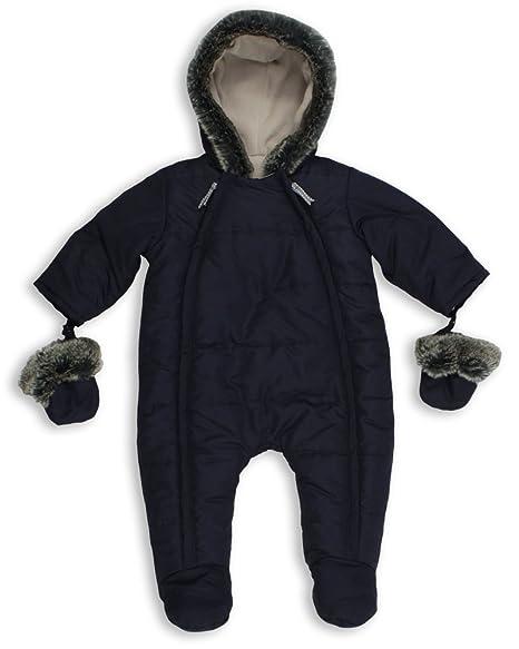51e5240d6 The Essential One - Trajes de Nieve Abrigo para bebé - azul marino -  acolchado-