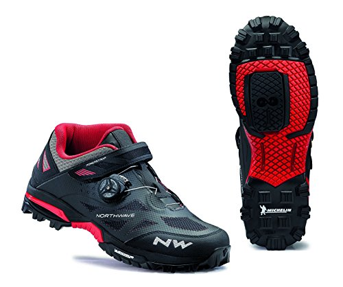 Northwave Enduro Mid MTB Shoes Black/Red 43 from Northwave