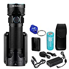 The Olight R50 PRO Seeker LE is a versatile rechargeable flashlight that utilizes a CREE XHP70 LED and produces a powerful 3200 lumens of brilliance and a beam distance of 273 yards in Turbo mode. With an included rechargeable high cap...