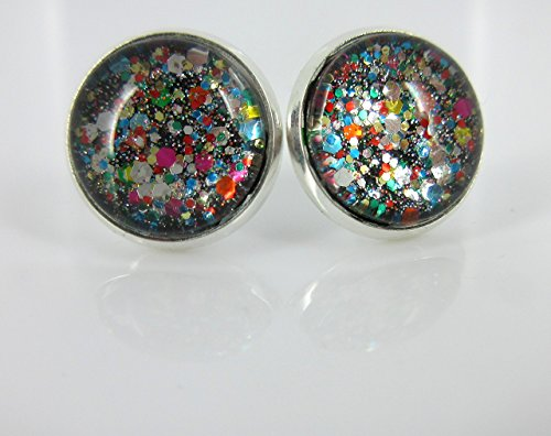 multi-color-party-confetti-glitter-glass-stud-earrings-silver-tone-12mm