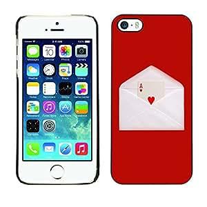 - GAME LETTER LOVE ENVELOPE CARD HEART ACE - - Monedero pared Design Premium cuero del tir???¡¯???€????€?????n magn???¡¯