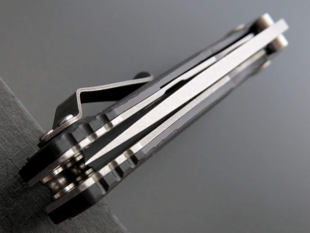 Eafengrow Pocket Knives D2 Blade G10 Handle Folding Camping Knife Mini Outdoor Pocket Knife Survival Tool (EF32-black) by Eafengrow (Image #10)