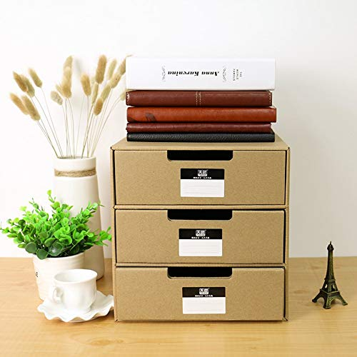 E.I.H. Organizer Documents Container Box TIANSE TS-1503 Multi-Layers Kraft Paper Files Documents Cabinet DIY Home Office Organizer Documents Container Box