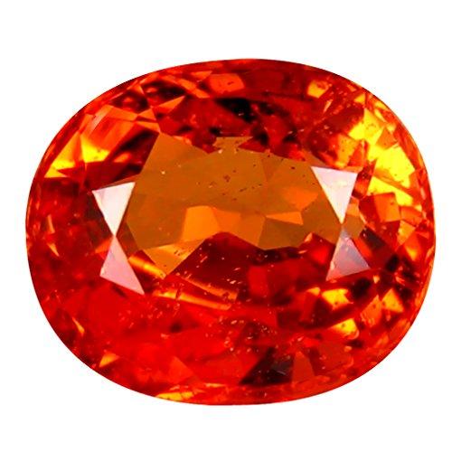 1.15 ct PGTL CERTIFIED OVAL CUT (7 x 5 mm) CEYLON ORANGE SAPPHIRE NATURAL LOOSE - Orange Ceylon Sapphire