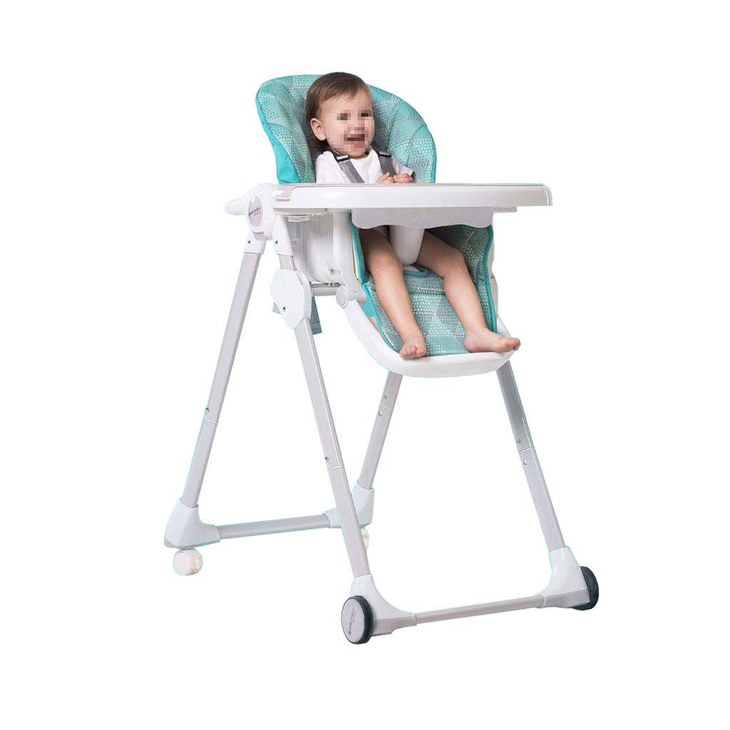 ハイチェア ベビーハイチェア ポータブル 送り椅子テーブル椅子調節可能な折りたたみ式ブースター   B07T35WHY1