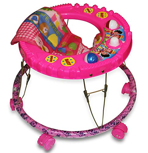 NewAge High Quality Baby Walker - Round Base Single Horn Without Music Walker for 9 Months to 1.5...