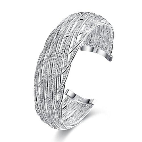 Filigree Cuff - Kacon 925 Sterling Silver Filigree Cuff Bracelet, 7