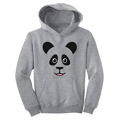 TeeStars - Cute Panda Bear Face - Best Gift for Panda Lovers Youth Hoodie Small Gray (Save The Animals Merchandise compare prices)