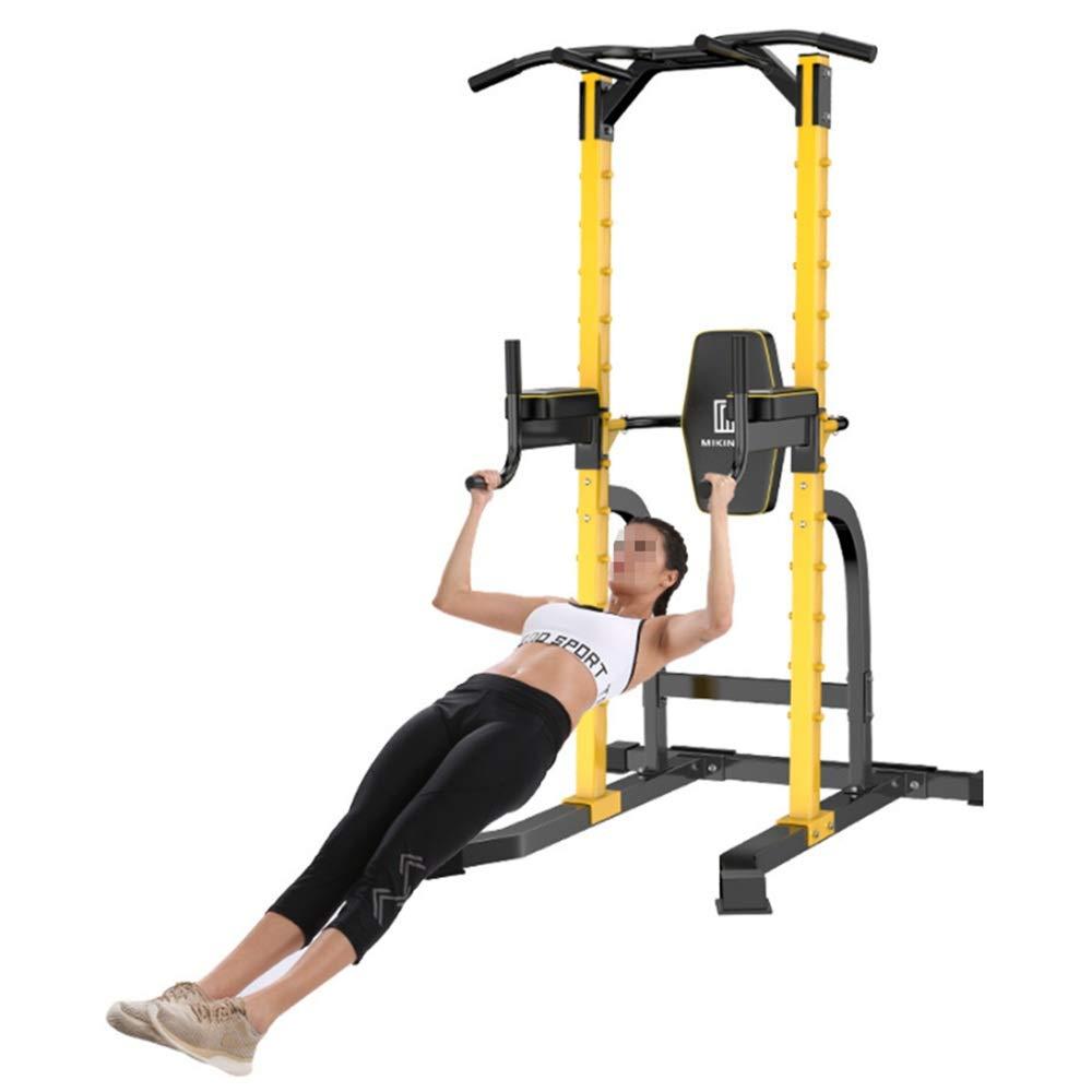 引き上げ棒ディップスタンド筋力トレーニングホームオフィスジムフィットネス機器 安全 (色 : 黄, サイズ : 208*104*103CM) 黄 208*104*103CM