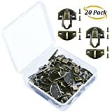 #6: Aneco 20 Sets Antique Latch Hook Hasp Wood Jewelry Box Hasp Catch Decoration with Replacement Screws, Bronze Tone