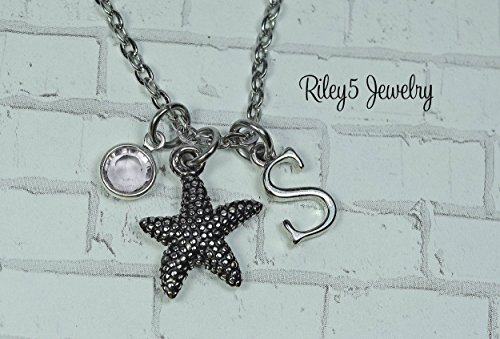 (Personalized Starfish necklace | Ocean Beach Necklace - Star fish Jewelry - Hawaiian Necklace - Starfish pendant Gift - Ocean)