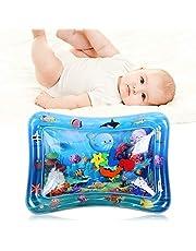 Barn uppblåsbara vatten lekmatta, baby småbarn småbarn uppblåsbara vatten lek matta i 3 6 9 månader