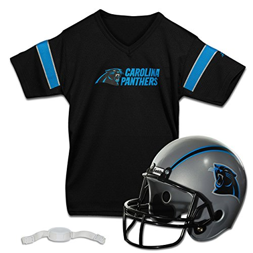 Franklin Sports NFL Carolina Panthers Replica Youth Helmet and Jersey Set]()