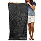 Yisliferunaz Wood Tree Ring Beach Towels Luxurious 100% Polyester Camping Bath Sheets Large Towel for Beach Blanket Cover Tent Floor Yoga Mat 31.5'' X 51.2'',Natural Soft Quick Dry