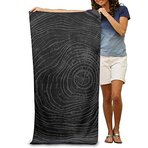 Yisliferunaz Wood Tree Ring Beach Towels Luxurious 100% Polyester Camping Bath Sheets Large Towel for Beach Blanket Cover Tent Floor Yoga Mat 31.5'' X 51.2'',Natural Soft Quick Dry by Yisliferunaz (Image #1)