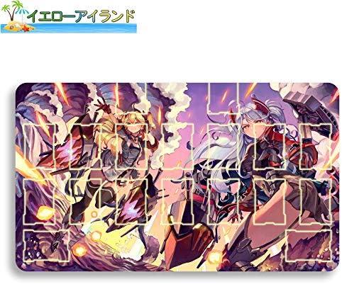 イエローアイランド カードゲームプレイマット 遊戯王 プレイマット Azur Lane アズールレーン プリンツ・オイゲン マウスパッド 収納ケース付き TCG万能 アニメ 萌え カード枠あり (60cm * 35cm * 0.2cm)