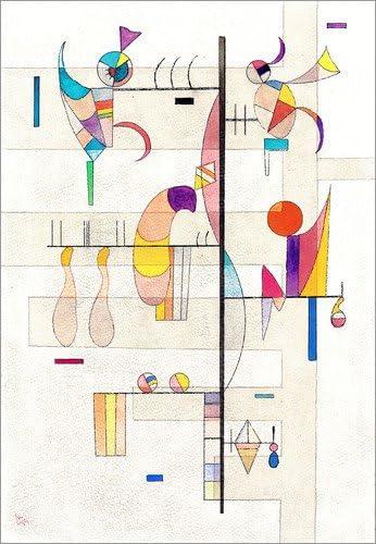 Posterlounge Cuadro de Madera 30 x 40 cm: Distribution de Wassily Kandinsky/ARTOTHEK