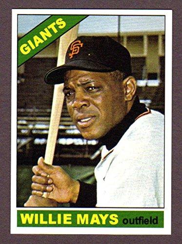 Willie Mays 1966 Topps Custom Design Baseball Card Giants