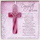 The Grandparent Gift Made Like You Handmade Glass Cross for Daughter in Law