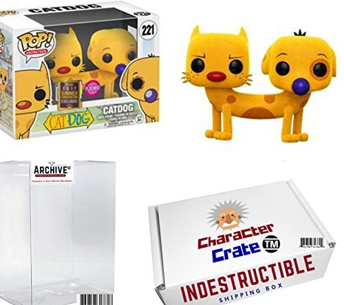 Funko Pop! SDCC Nickelodeon Cat Dog Flocked, Limited Edition Summer Convention Exclusive, Concierge Collectors (Black Cat Limited Edition)