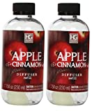 Hosley Aromatherapy Set of 2 Premium Apple Cinnamon Reed Diffuser Refills Oil, 230 ml (7.75 fl oz) Made in USA. BULK BUY. Ideal GIFT for Weddings, Spa, Reiki, Meditation Settings W1