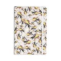 "KESS InHouse ""Fuchsia on the Wind"" Everything Notebook, Journal Akwaflorell, Yellow (EM1022ANP01)"