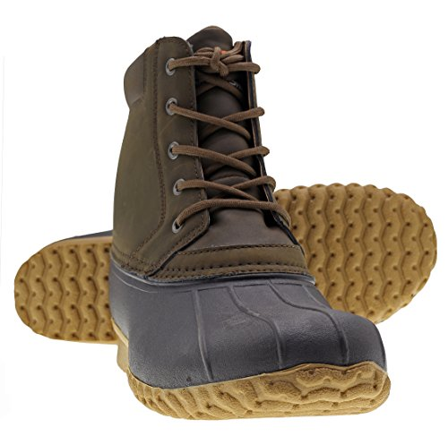 Arctic Shield Mens Durable Comfortable Waterproof Insulated Outdoor Rain And Snow Duck Boots