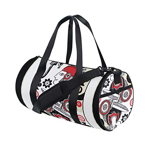 - Tote Bags Durable Simple Entertinement Playing Cards Day Duffel Comfortable Duffle Bag Luggage For Teen Lady Fitness Duffel Sport Gift Bicycle Dufflebag