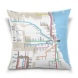Amazon.com: leisisi Classic Chicago metro mapa manta funda ...